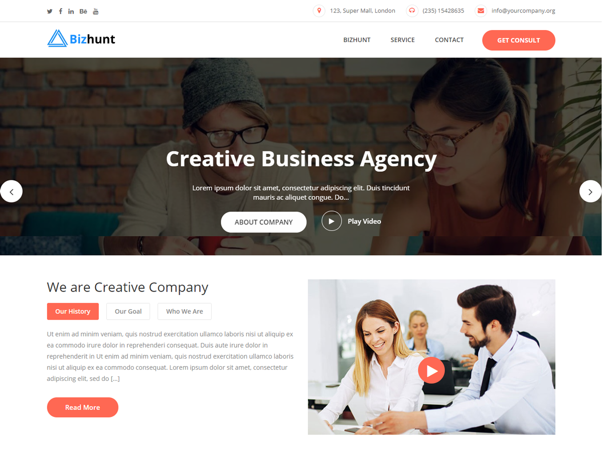 Bizhunt Preview Wordpress Theme - Rating, Reviews, Preview, Demo & Download