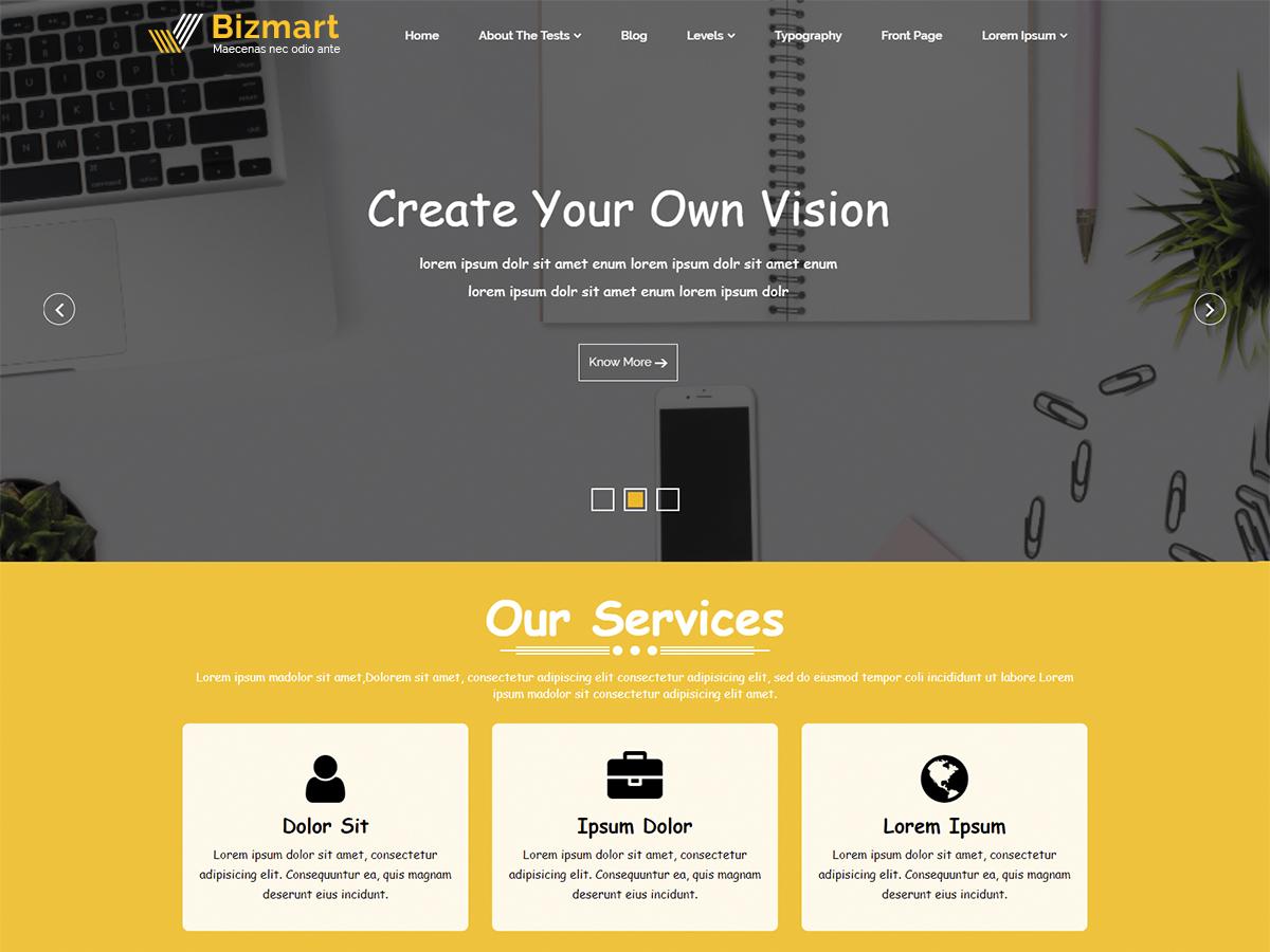 Bizmart Preview Wordpress Theme - Rating, Reviews, Preview, Demo & Download