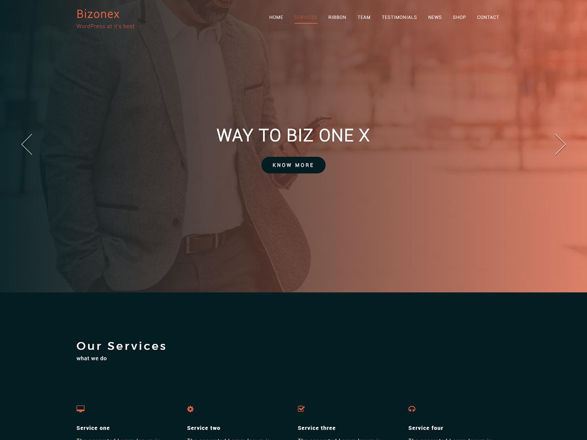 Bizonex Preview Wordpress Theme - Rating, Reviews, Preview, Demo & Download
