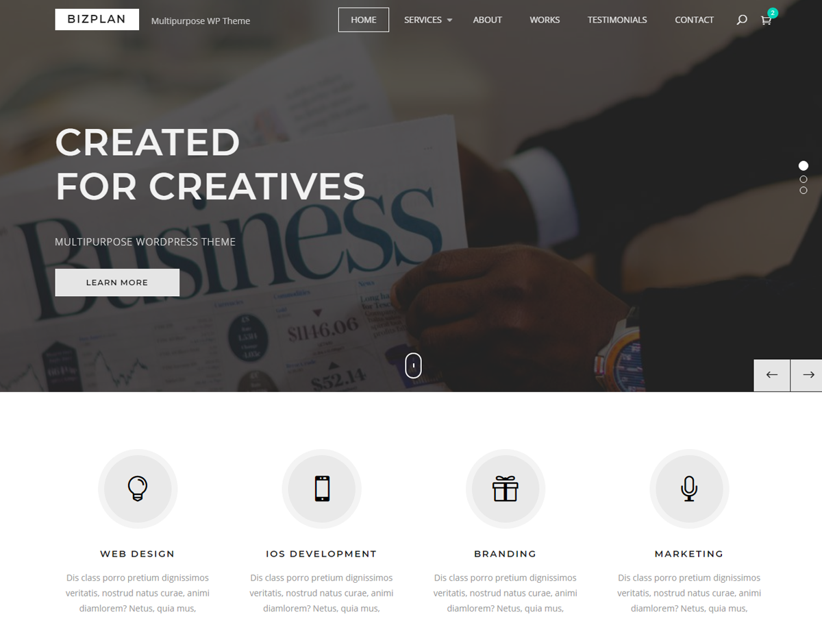 Bizplan Preview Wordpress Theme - Rating, Reviews, Preview, Demo & Download