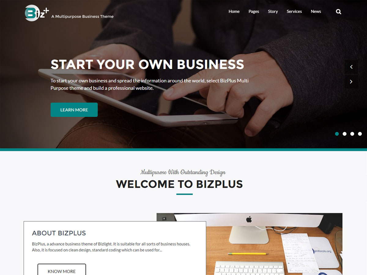 BizPlus Preview Wordpress Theme - Rating, Reviews, Preview, Demo & Download