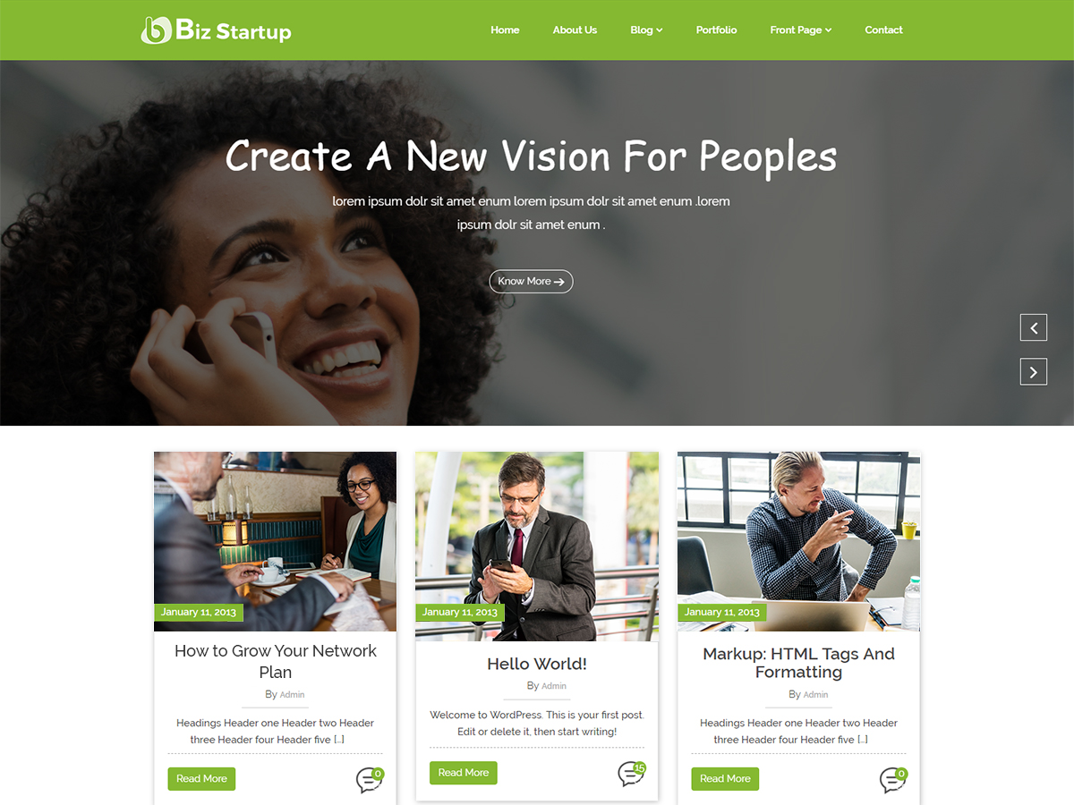 Bizstartup Preview Wordpress Theme - Rating, Reviews, Preview, Demo & Download