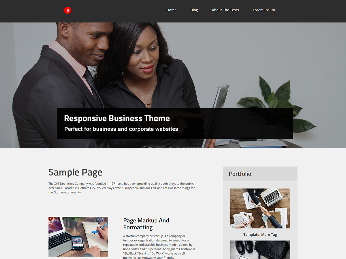 Bizto Preview Wordpress Theme - Rating, Reviews, Preview, Demo & Download