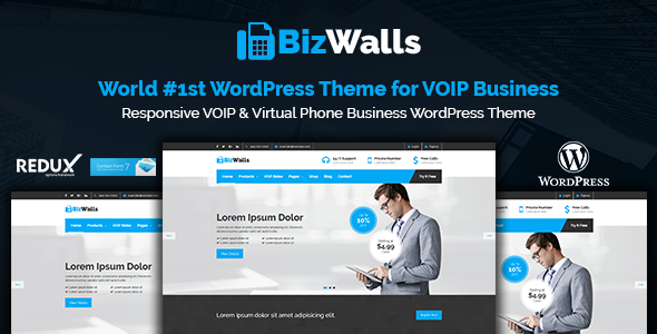 BizWalls Preview Wordpress Theme - Rating, Reviews, Preview, Demo & Download