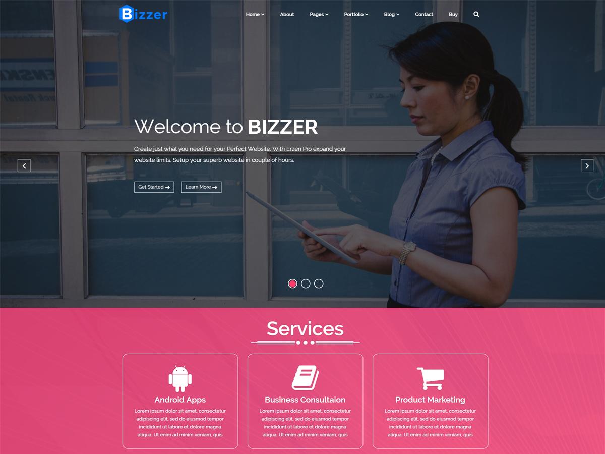 Bizzer Preview Wordpress Theme - Rating, Reviews, Preview, Demo & Download