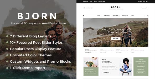 Bjorn Preview Wordpress Theme - Rating, Reviews, Preview, Demo & Download