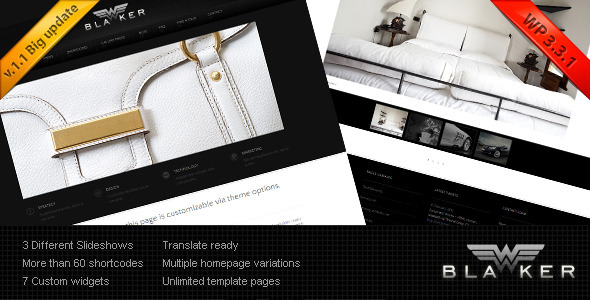 Blacker Preview Wordpress Theme - Rating, Reviews, Preview, Demo & Download