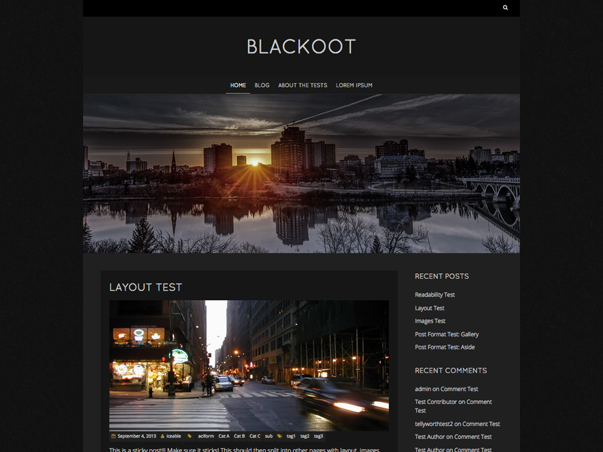 Blackoot Lite Preview Wordpress Theme - Rating, Reviews, Preview, Demo & Download