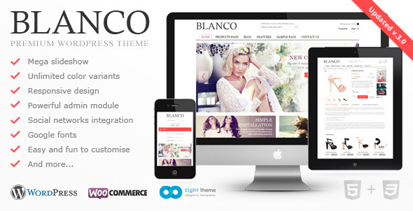 Blanco Preview Wordpress Theme - Rating, Reviews, Preview, Demo & Download