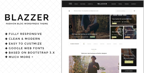 Blazzer Preview Wordpress Theme - Rating, Reviews, Preview, Demo & Download