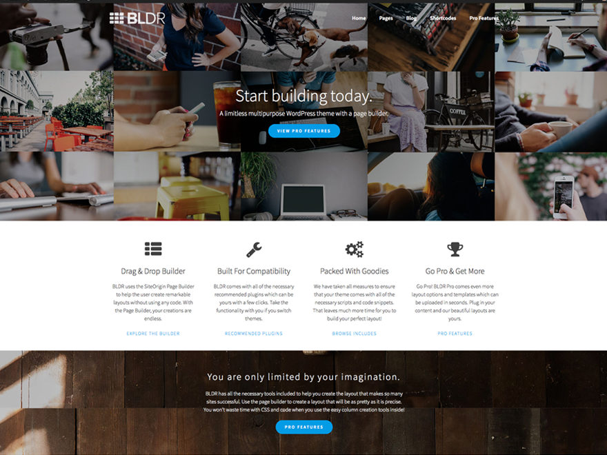 BLDR Preview Wordpress Theme - Rating, Reviews, Preview, Demo & Download