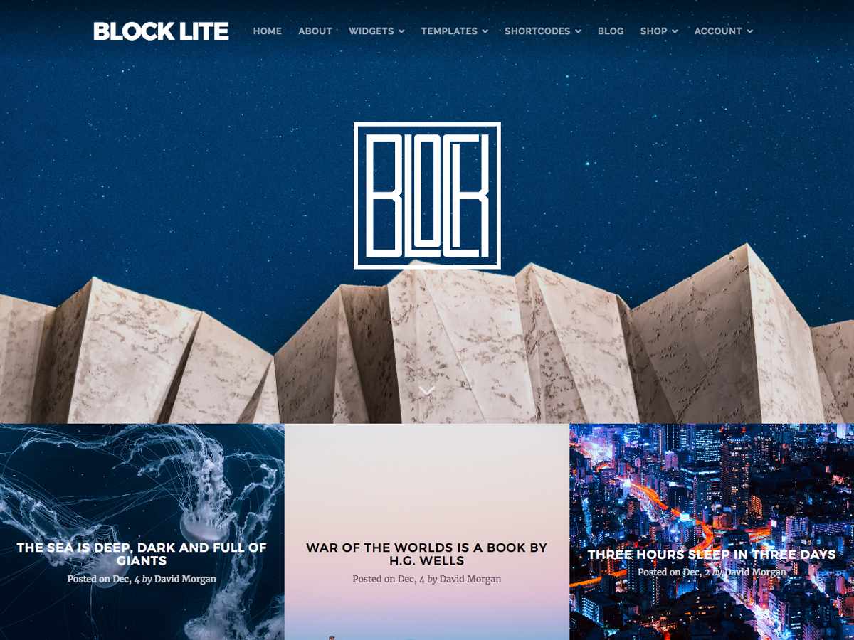 Block Lite Preview Wordpress Theme - Rating, Reviews, Preview, Demo & Download