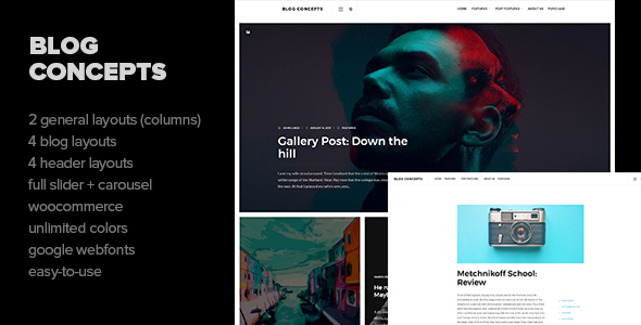Blog Concepts Preview Wordpress Theme - Rating, Reviews, Preview, Demo & Download