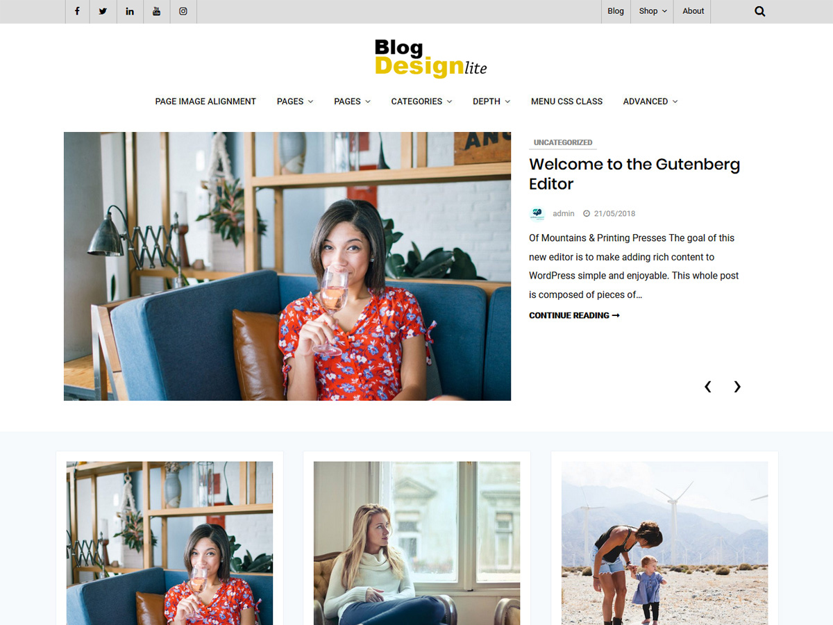 Blog Design Preview Wordpress Theme - Rating, Reviews, Preview, Demo & Download