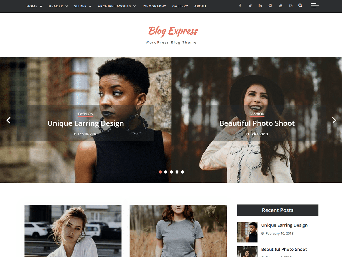 Blog Express Preview Wordpress Theme - Rating, Reviews, Preview, Demo & Download