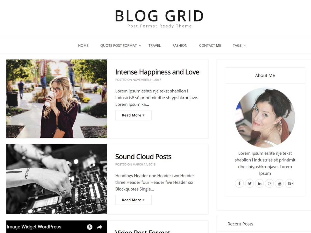 Blog Grid Preview Wordpress Theme - Rating, Reviews, Preview, Demo & Download