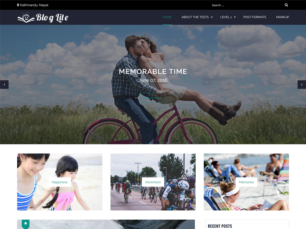 Blog Lite Preview Wordpress Theme - Rating, Reviews, Preview, Demo & Download