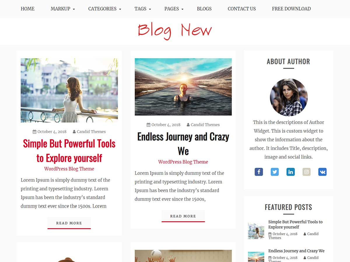 Blog New Preview Wordpress Theme - Rating, Reviews, Preview, Demo & Download