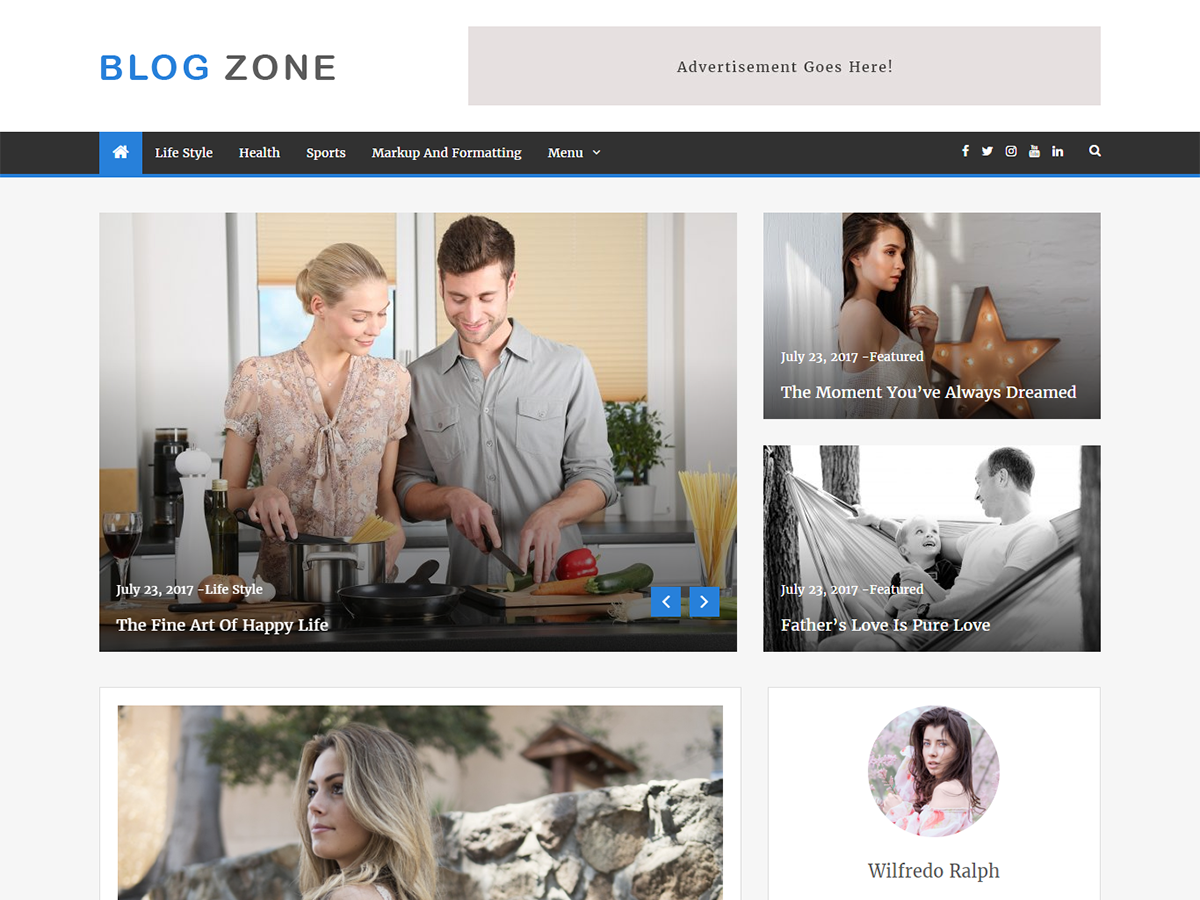 Blog Zone Preview Wordpress Theme - Rating, Reviews, Preview, Demo & Download