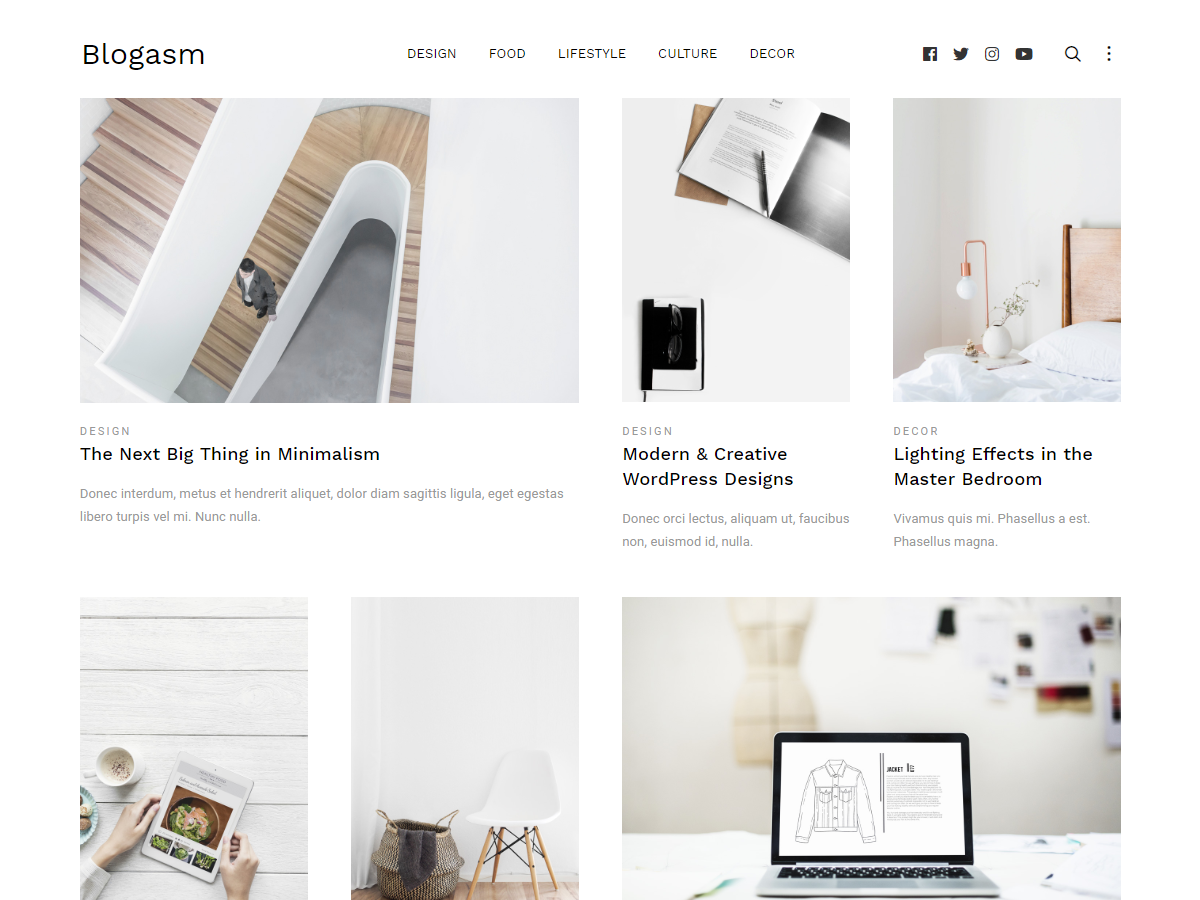 Blogasm Preview Wordpress Theme - Rating, Reviews, Preview, Demo & Download
