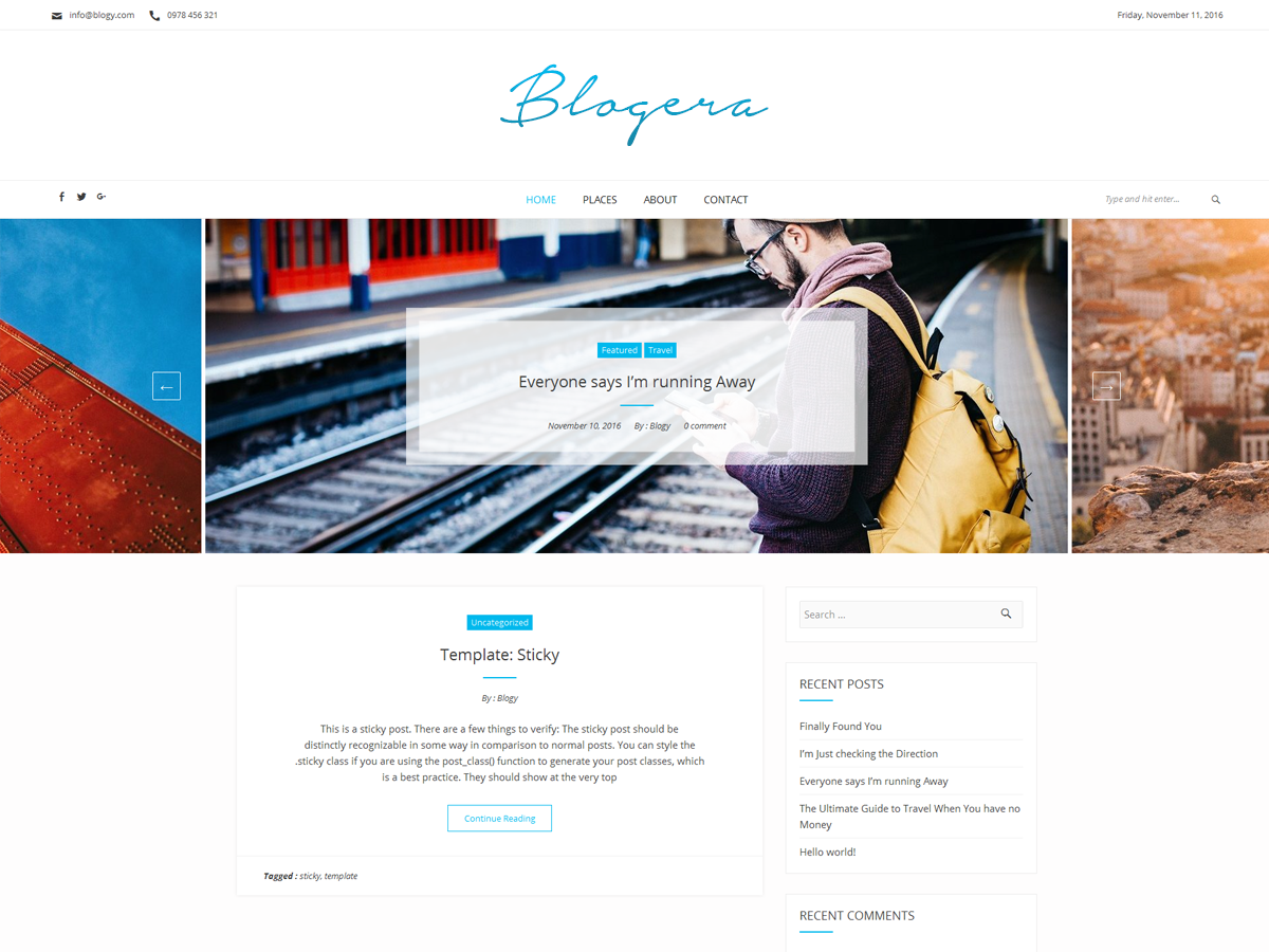 Blogera Preview Wordpress Theme - Rating, Reviews, Preview, Demo & Download