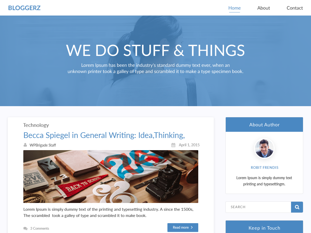 Bloggerz Preview Wordpress Theme - Rating, Reviews, Preview, Demo & Download