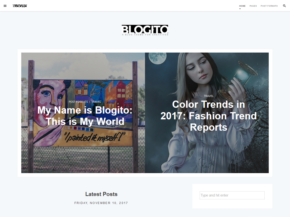 Blogito Preview Wordpress Theme - Rating, Reviews, Preview, Demo & Download