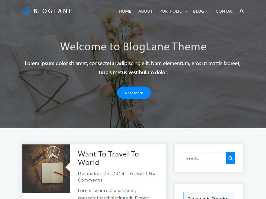 Bloglane Preview Wordpress Theme - Rating, Reviews, Preview, Demo & Download