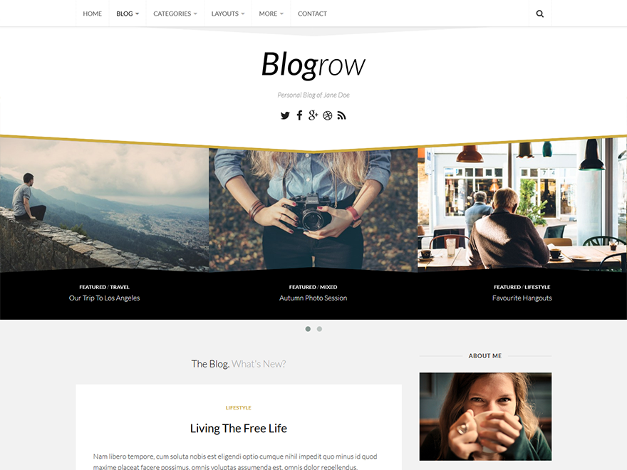 Blogrow Preview Wordpress Theme - Rating, Reviews, Preview, Demo & Download
