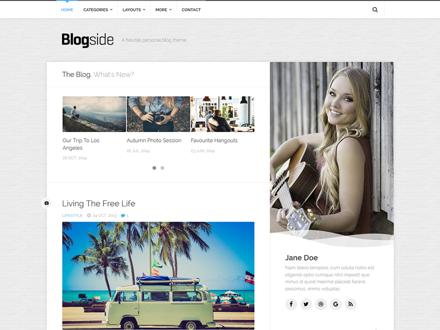 Blogside Preview Wordpress Theme - Rating, Reviews, Preview, Demo & Download
