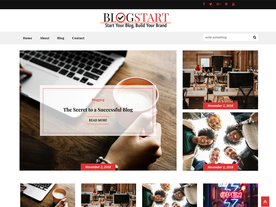 Blogstart Preview Wordpress Theme - Rating, Reviews, Preview, Demo & Download