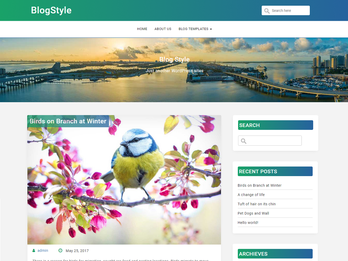 BlogStyle Preview Wordpress Theme - Rating, Reviews, Preview, Demo & Download