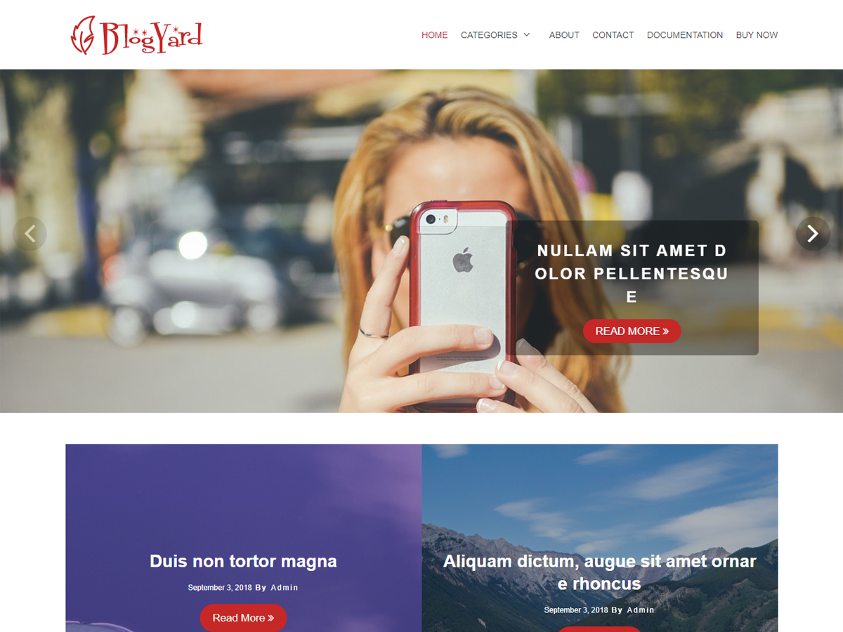 BlogYard Preview Wordpress Theme - Rating, Reviews, Preview, Demo & Download