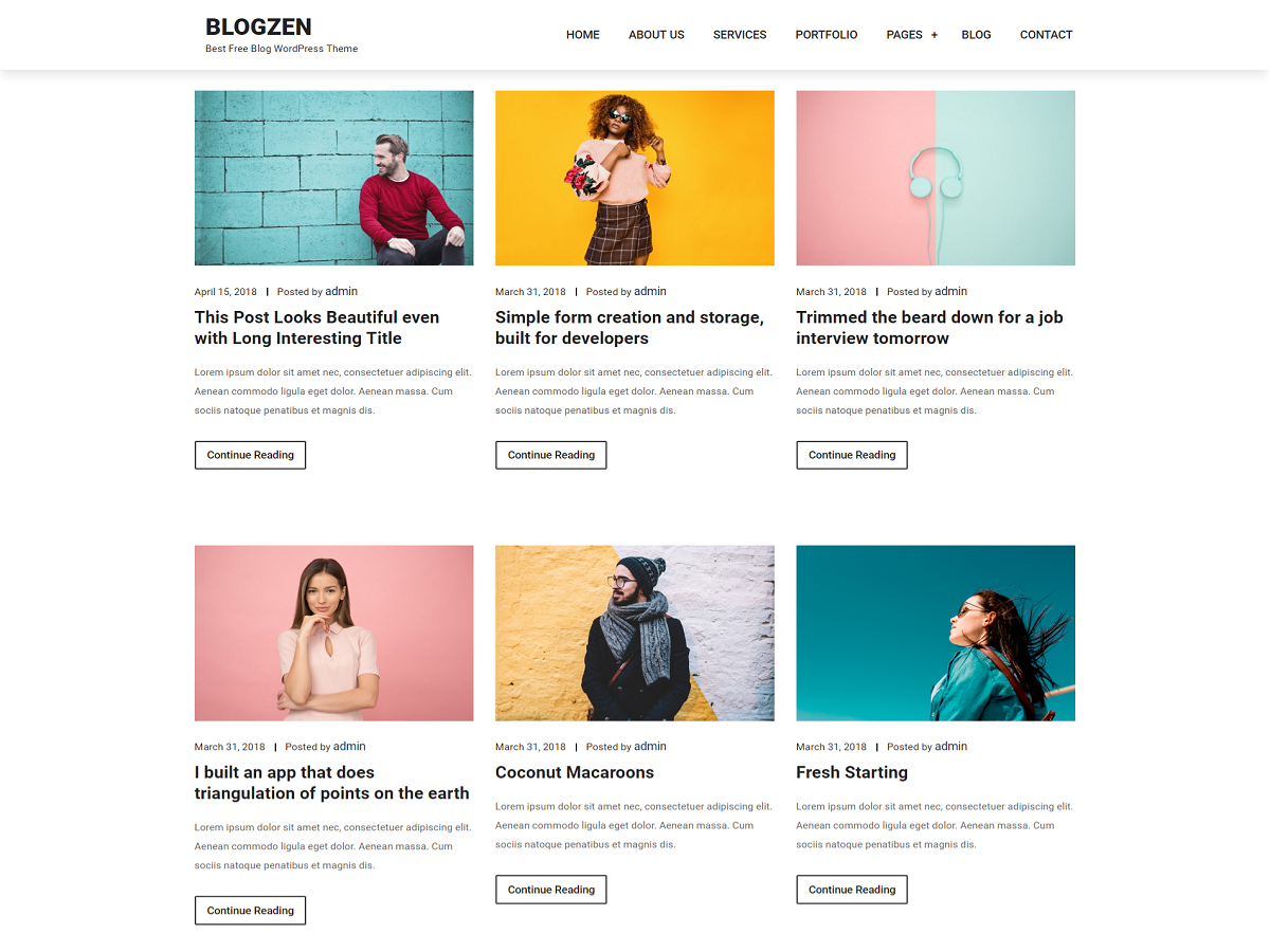 Blogzen Preview Wordpress Theme - Rating, Reviews, Preview, Demo & Download