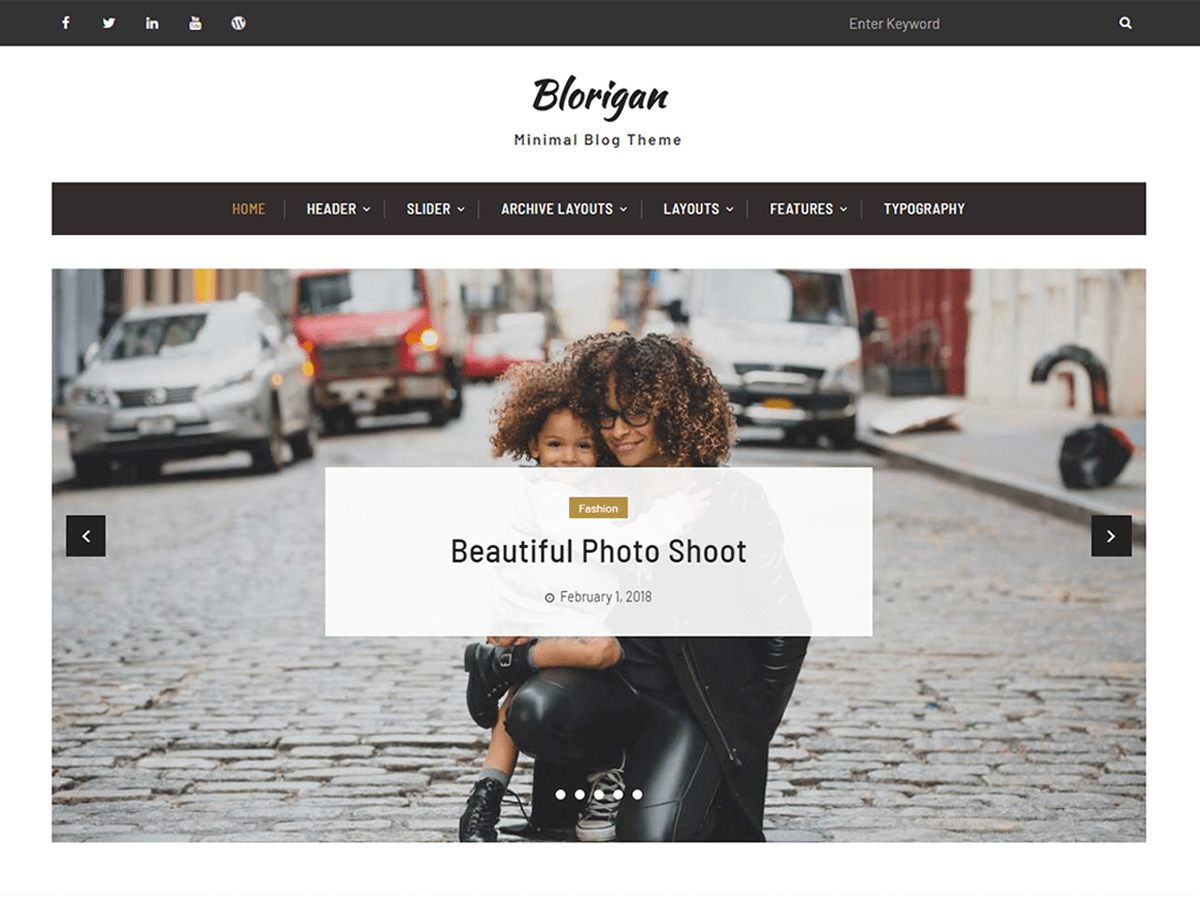 Blorigan Preview Wordpress Theme - Rating, Reviews, Preview, Demo & Download