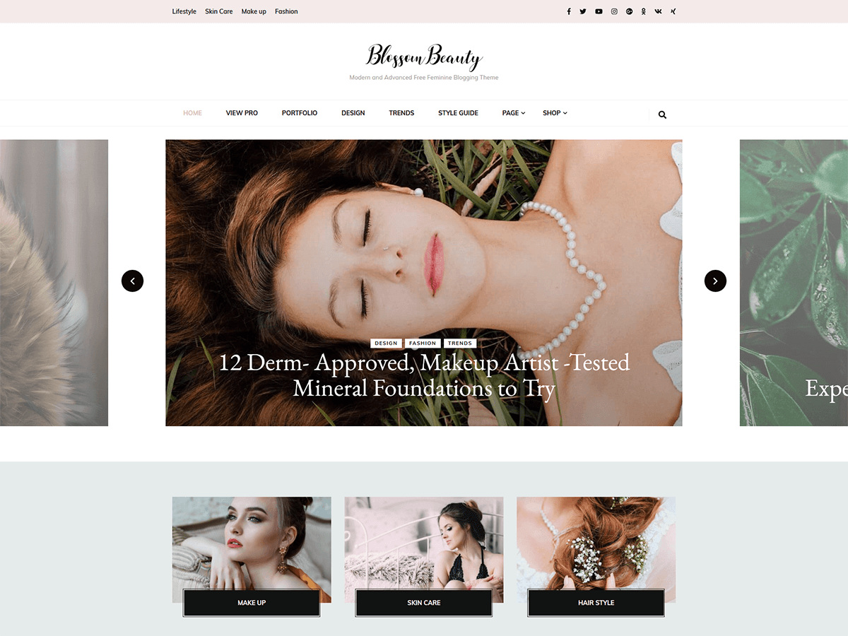 Blossom Beauty Preview Wordpress Theme - Rating, Reviews, Preview, Demo & Download
