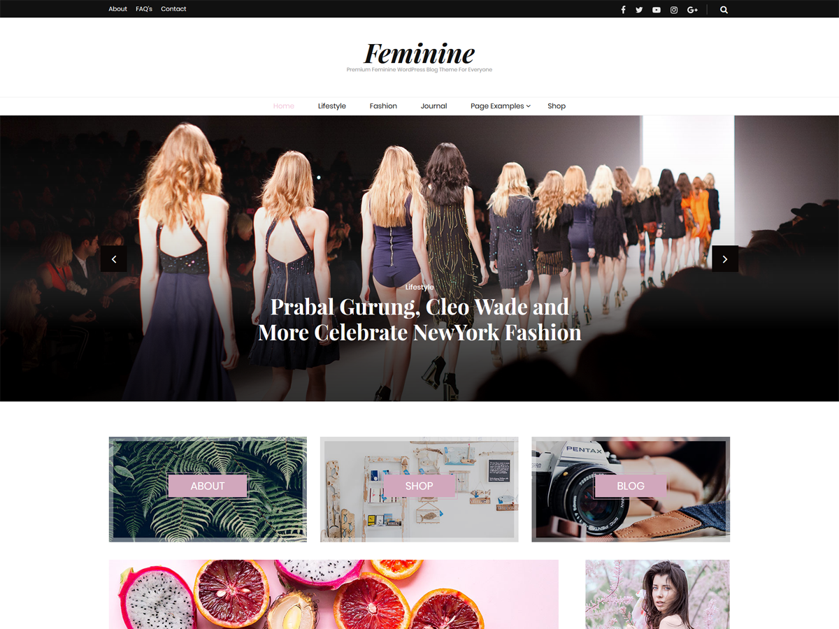 Blossom Feminine Preview Wordpress Theme - Rating, Reviews, Preview, Demo & Download