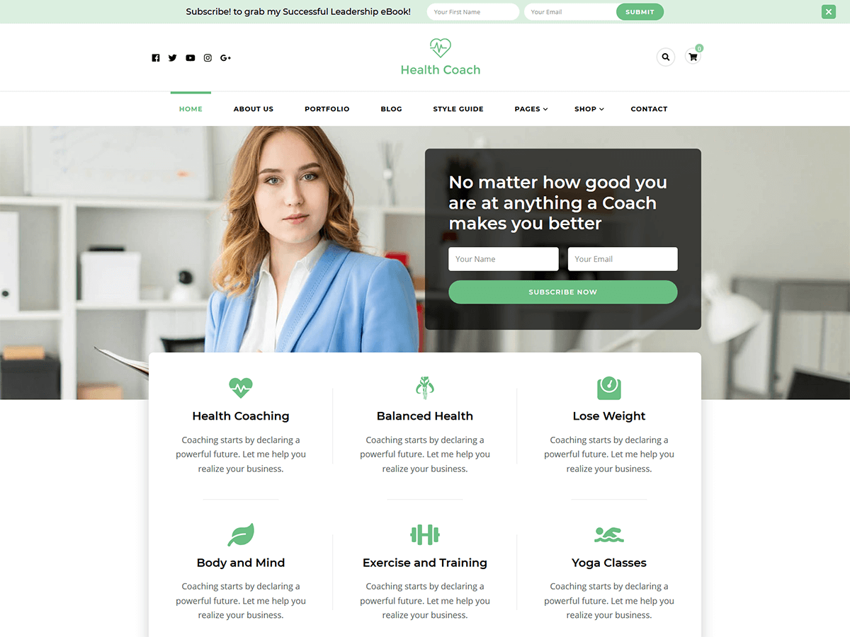 Blossom Health Preview Wordpress Theme - Rating, Reviews, Preview, Demo & Download