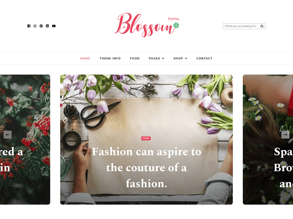 Blossom PinThis Preview Wordpress Theme - Rating, Reviews, Preview, Demo & Download