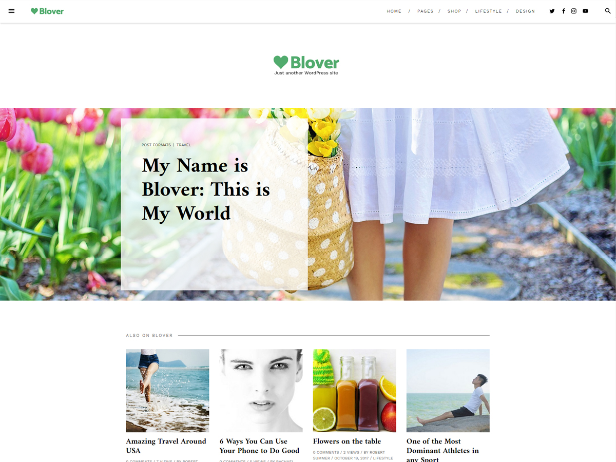 Blover Preview Wordpress Theme - Rating, Reviews, Preview, Demo & Download
