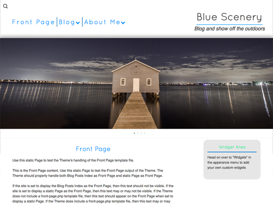 Blue Scenery Preview Wordpress Theme - Rating, Reviews, Preview, Demo & Download