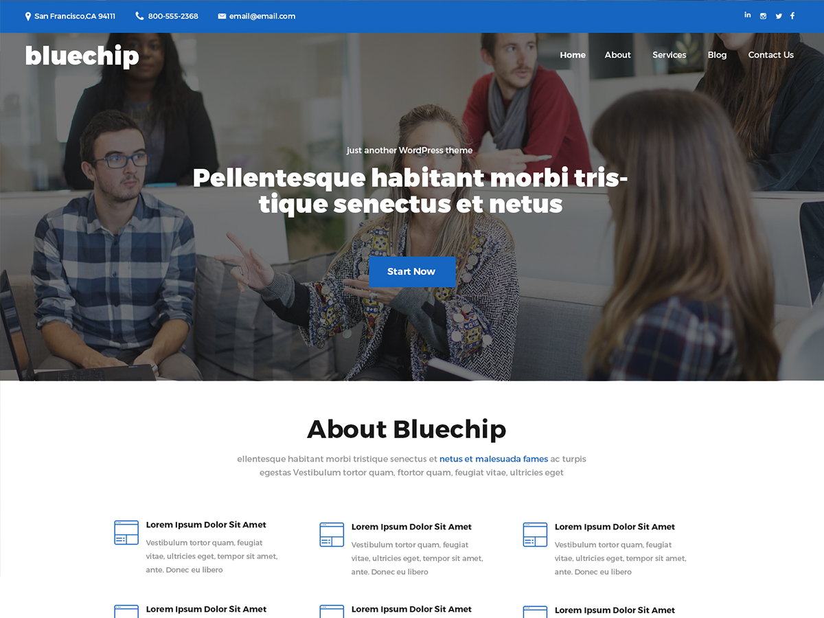 Bluechip Preview Wordpress Theme - Rating, Reviews, Preview, Demo & Download