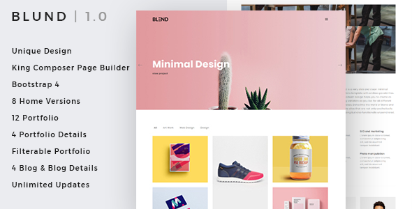 Blund Minimal Preview Wordpress Theme - Rating, Reviews, Preview, Demo & Download