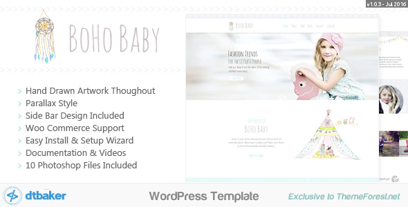 BoHo Baby Preview Wordpress Theme - Rating, Reviews, Preview, Demo & Download