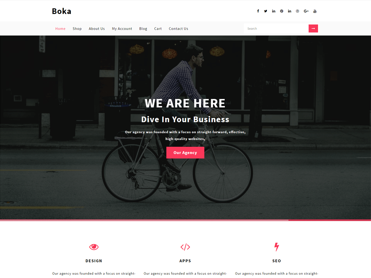 Boka Preview Wordpress Theme - Rating, Reviews, Preview, Demo & Download