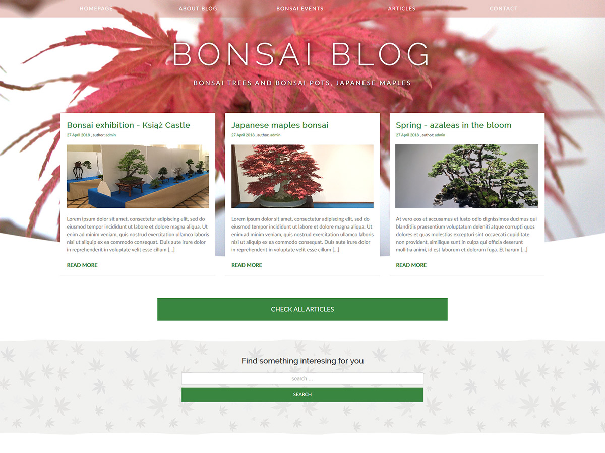 Bonsai Blog Preview Wordpress Theme - Rating, Reviews, Preview, Demo & Download