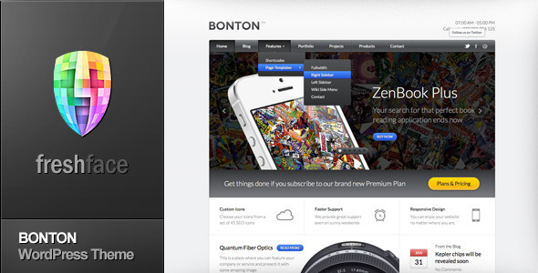 BONTON Preview Wordpress Theme - Rating, Reviews, Preview, Demo & Download