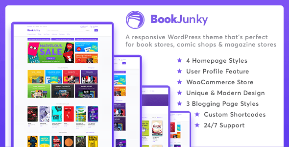 BookJunky Preview Wordpress Theme - Rating, Reviews, Preview, Demo & Download