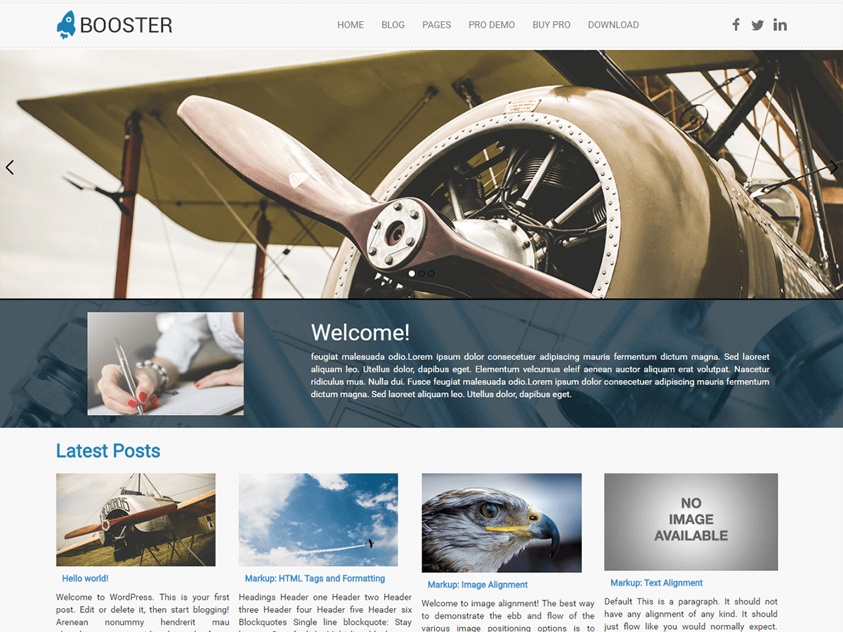 Booster Preview Wordpress Theme - Rating, Reviews, Preview, Demo & Download