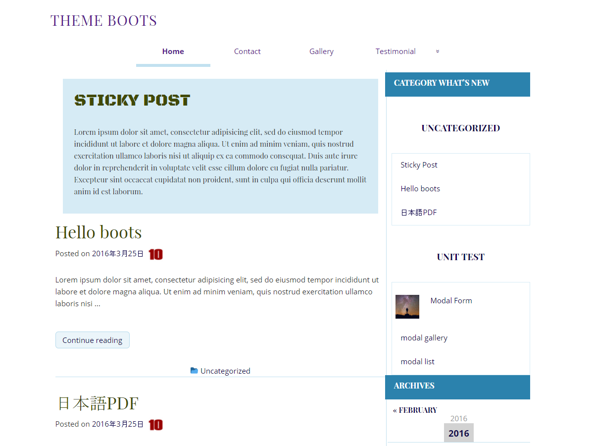 Boots Preview Wordpress Theme - Rating, Reviews, Preview, Demo & Download
